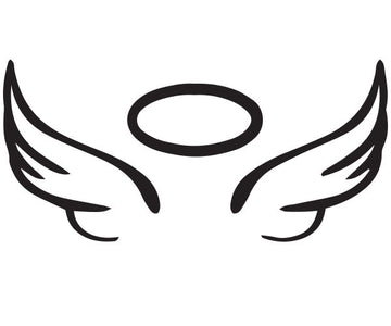 angel wing halo vinyl car decal