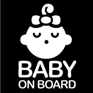 baby on board girl bow