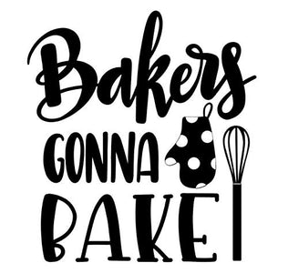 bakers gonna bake  kitchen aide decal  kitchen wall art  chef decal