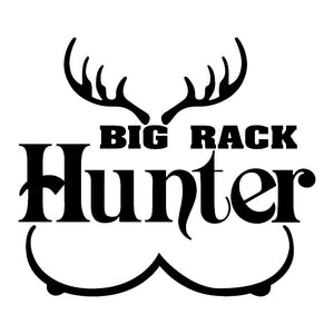 big rack hunter deer boobs Sticker Car Window Bumper Door Vehicle Van Truck Laptop Vinyl Decal