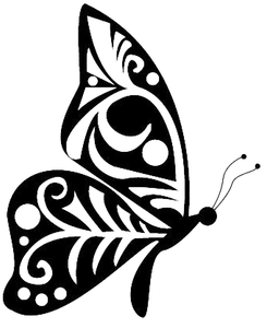 butterfly tribal style