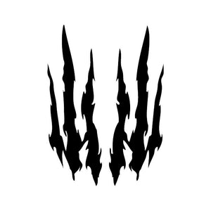 claw marks decal sticker