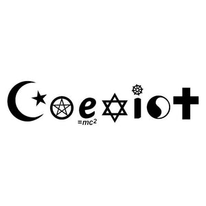 coexist decal sticker