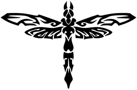 dragonfly vinyl decal car window wall bumper sticker tribal insect damselfly bug