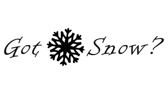 got snow winter car decal sticker