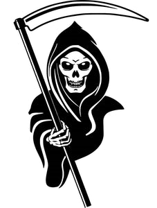 grim reaper death skeleton skull car wall truck window vinyl sticker decal