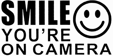 smile your on camera security sticker