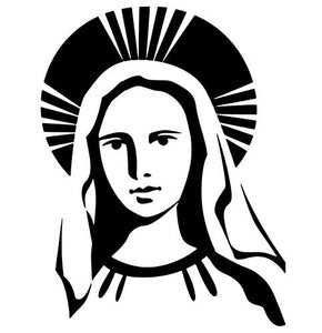 virgin mary vinyl decal  nuestra senora de guadalupe church decals catholic decals