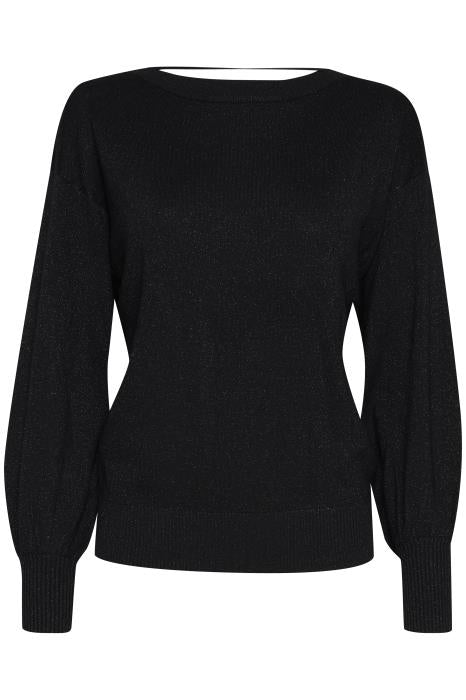 IH MOPAZ - Sweater Round - Black Metallic