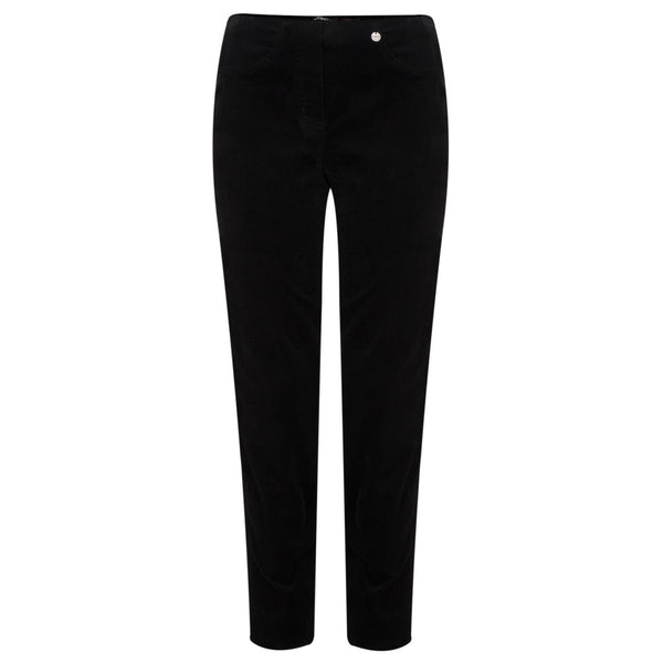 ROBELL BELLA Needlecord F/L Trouser - 90 Black