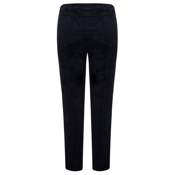 ROBELL BELLA Needlecord F/L Trouser - 69 Navy