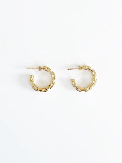SWAN Boutique - Seraphina Link Hoop Earrings - Gold