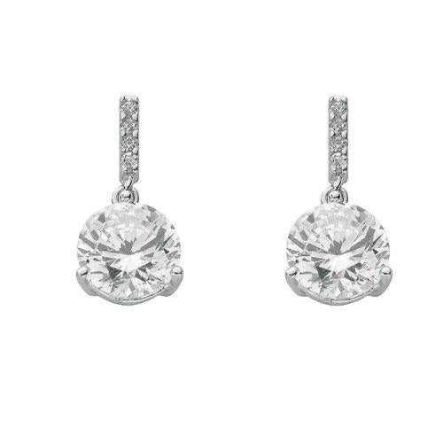 SWAN Boutique Rhodium Plated Silver Stud & Drop Earrings
