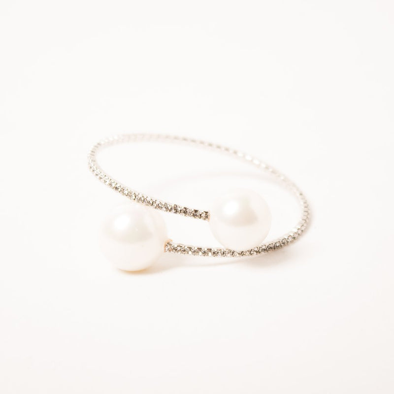 SWAN Boutique Serena Double Pearl Wrap Around - Austrian Crystal & Pearl