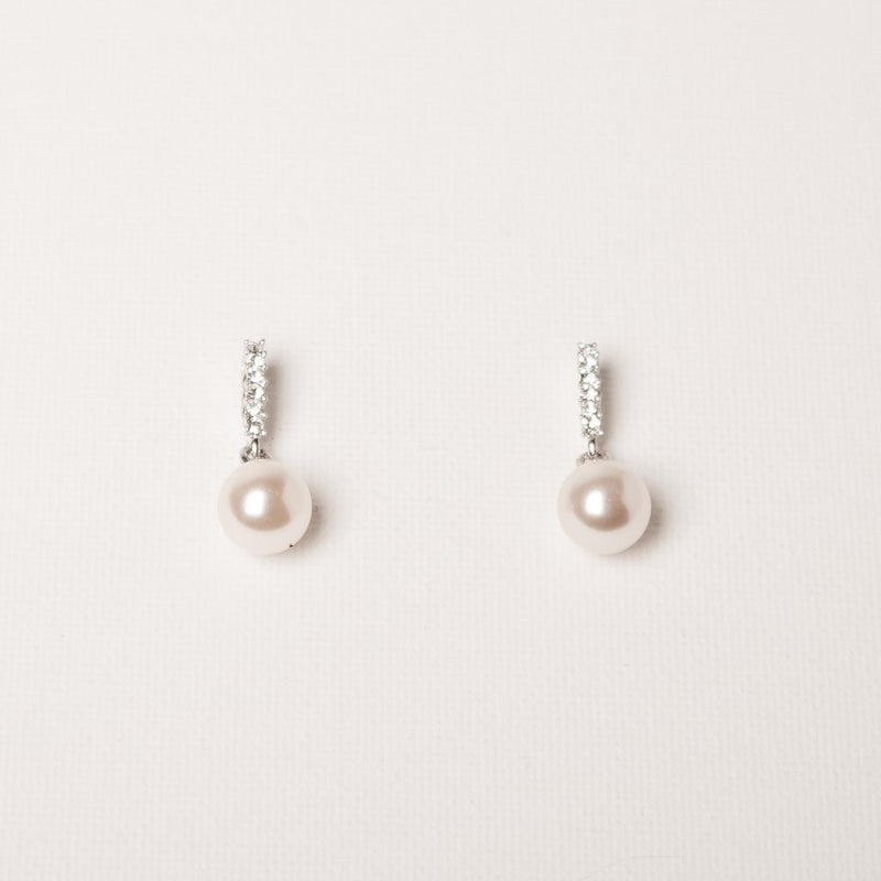 SWAN Boutique Serena  Medium Drop - Austrian Crystal & Pearl