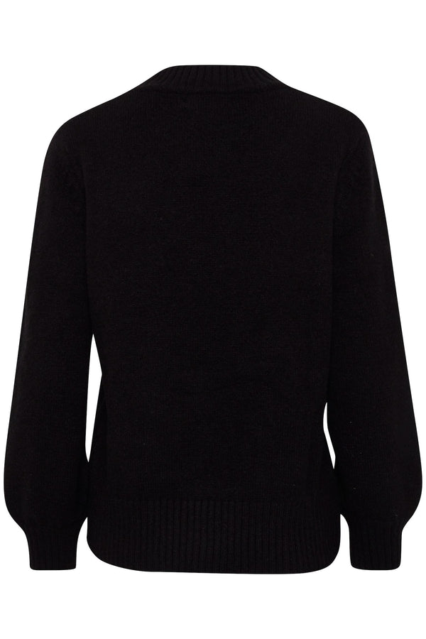 BY MARTHA Argle Jumper - Black Combi