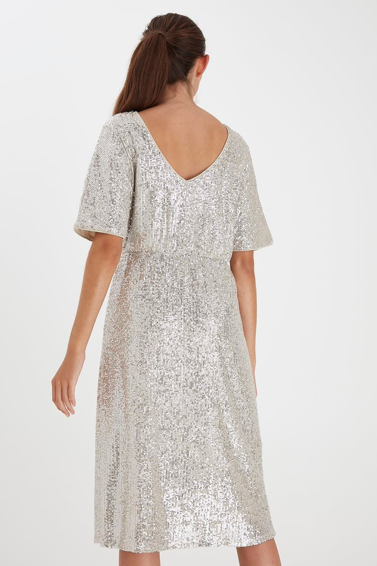 IH JOLENE Sequin Dress - Sequin Frosted Almond
