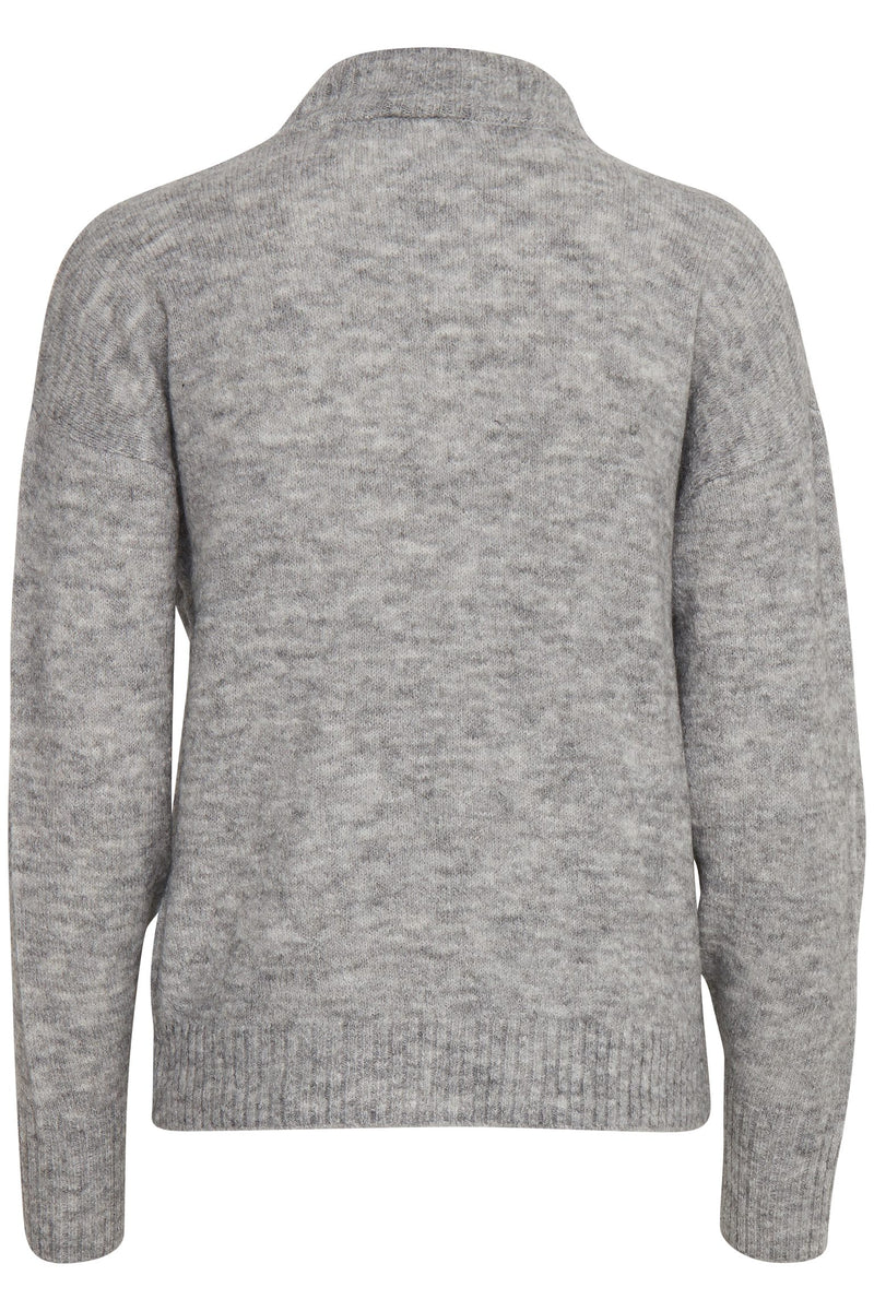 IH AMARA Round Neck Jumper - Grey