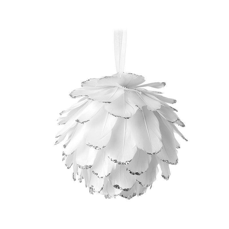 Feather Small White Bauble