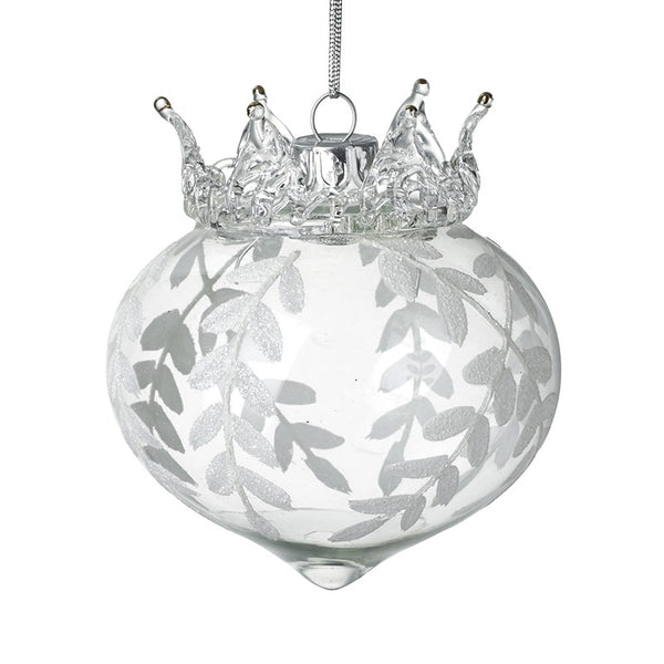 Glass Crown Ivy Bauble
