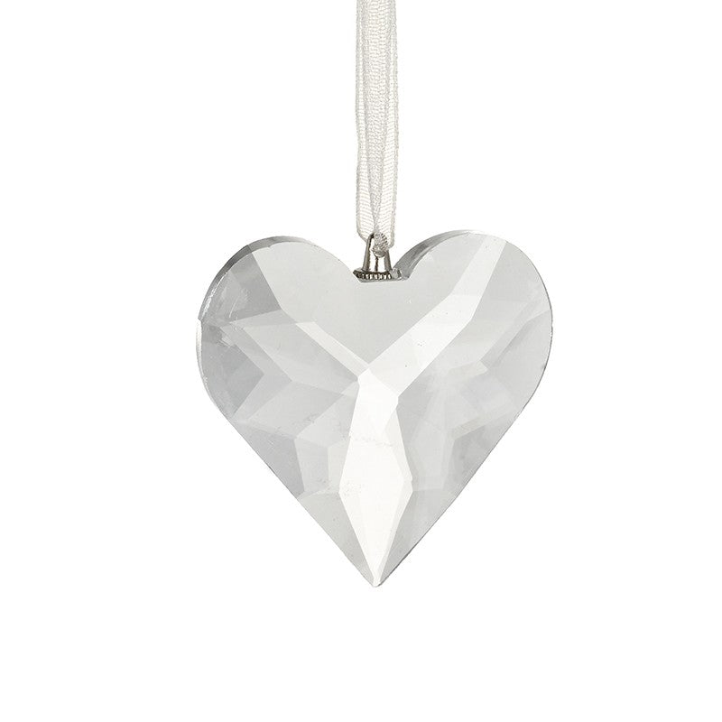 Glass Cut Small Heart Decoration