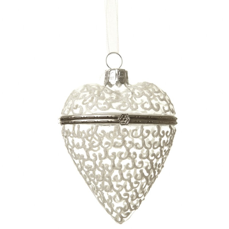 Glass Opening Heart Bauble