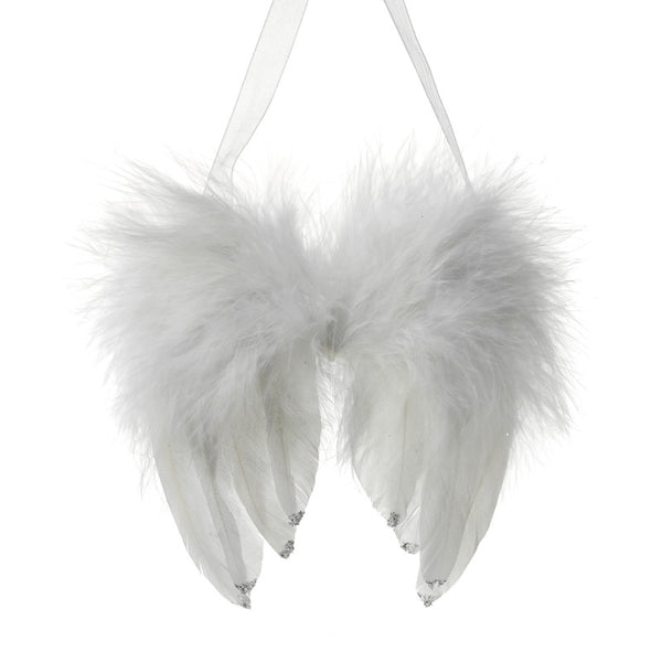 Small Feather Angel Wings with Silver Detail