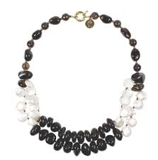 SWAN Boutique VIVIENNE Smokey Quartz & Pearl Necklace