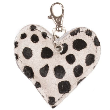 HEART - Cowhide Heart Keyring - Black Ciga