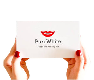 Pure White Teeth Whitening Kit, Best At-Home Teeth Whitening System, Hollywood Smile, All In One Teeth Bleaching and Whitening, DIY Teeth Whitening, Purely White Teeth, PureWhite Teeth