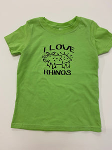 I Love Rhinos Toddler Shirts