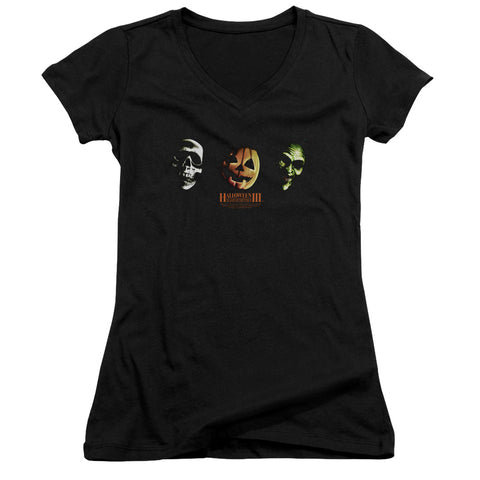 Halloween Iii - Three Masks Junior V Neck