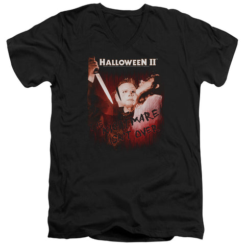 Halloween Ii - Nightmare Short Sleeve Adult V Neck