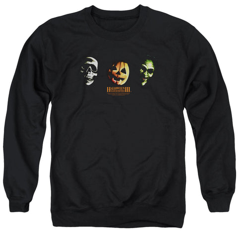 Halloween Iii - Three Masks Adult Crewneck Sweatshirt