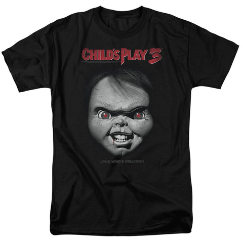 Childs Play 3 - Face Poster Short Sleeve Adult 18/1