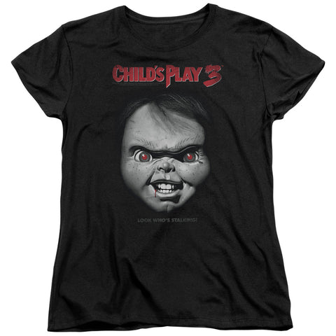 Childs Play 3 - Face Poster Short Sleeve Women's Tee