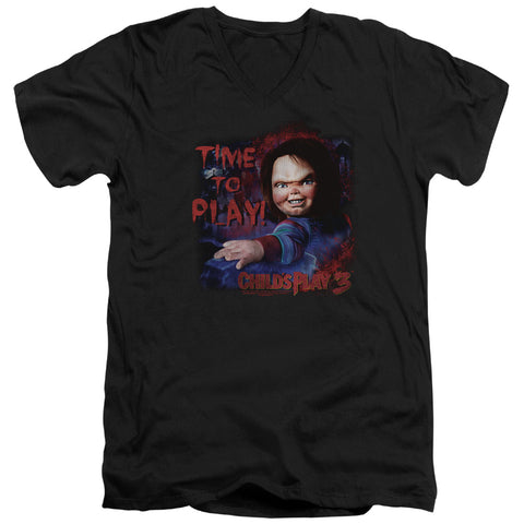 Childs Play 3 - Time To Play Short Sleeve Adult V Neck