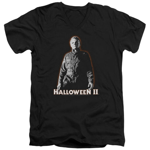 Halloween Ii - Michael Myers Short Sleeve Adult V Neck