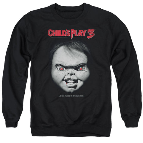 Childs Play 3 - Face Poster Adult Crewneck Sweatshirt