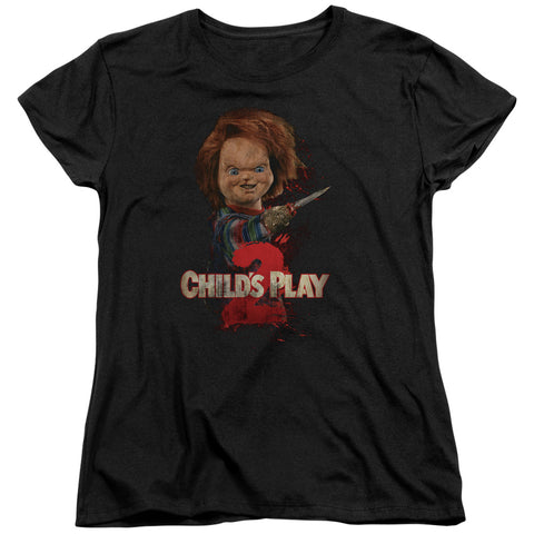 Childs Play 2 - Heres Chucky Short Sleeve Women's Tee