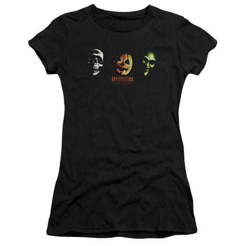 Halloween Iii - Three Masks Short Sleeve Junior Sheer