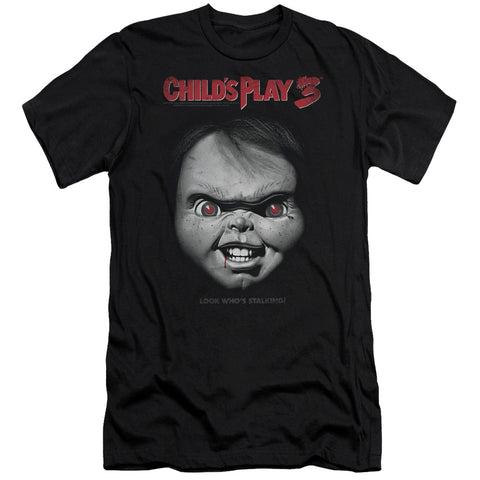Childs Play 3 - Face Poster Short Sleeve Adult 30/1