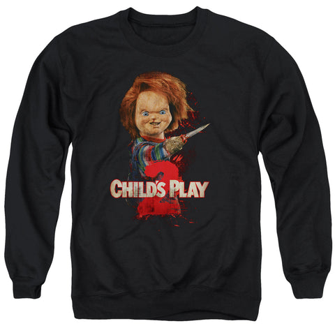 Childs Play 2 - Heres Chucky Adult Crewneck Sweatshirt