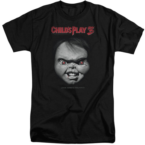 Childs Play 3 - Face Poster Short Sleeve Adult Tall