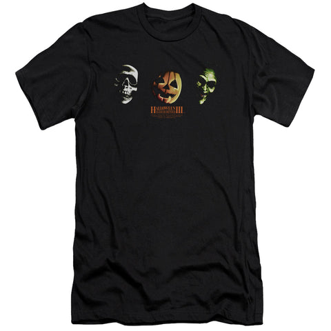 Halloween Iii - Three Masks Short Sleeve Adult 30/1