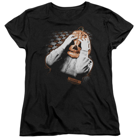 Halloween Iii - Pumpkin Mask Short Sleeve Women's Tee