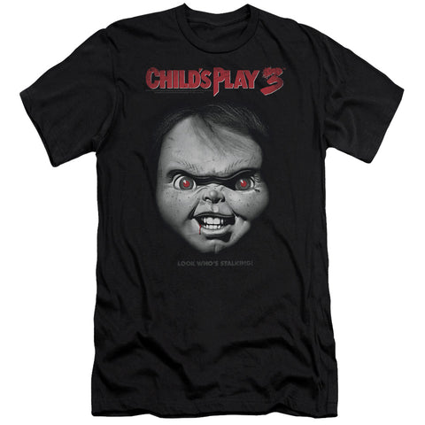 Childs Play 3 - Face Poster Premium Canvas Adult Slim Fit 30/1