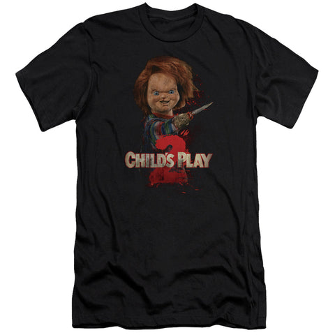 Childs Play 2 - Heres Chucky Premium Canvas Adult Slim Fit 30/1