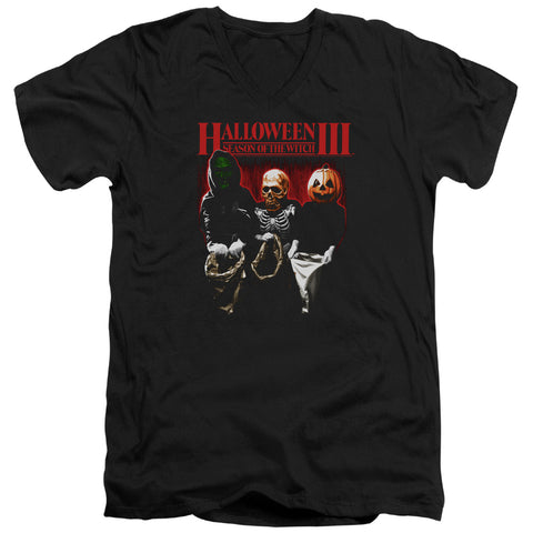 Halloween Iii - Trick Or Treat Short Sleeve Adult V Neck