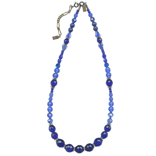 COBALT TONES 18 INCH NECKLACE IN BRONZE